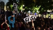 Supporters of Spain's anti-austerity parties took to the streets of Madrid last night