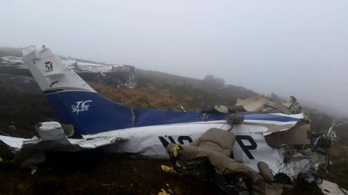 A hillwalker reported the crash after finding wreckage in a remote location on the Blackstairs Mountains