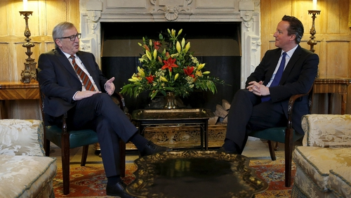 David Cameron met with Jean-Claude Juncker to discuss potential changes to the European Union