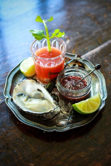 Bloody Mary Oyster Shooters with Raw Oysters and a Shallot Mignonette - This is a fantastic recipe to showcase fresh oysters, the shooters add a bit of fun to the dish and will ensure that your evening starts well!