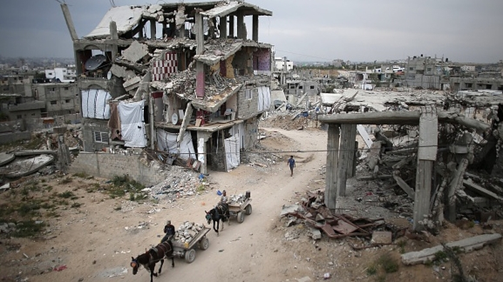 One year on from Israeli bombardment of Gaza