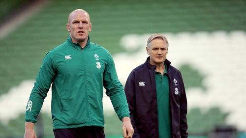 Paul O'Connell and Joe Schmidt before Ireland's game against Australia last November
