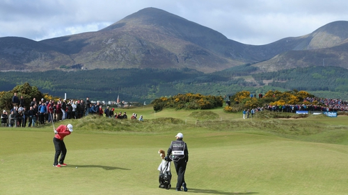 Rory McIlroy in action in this year's Irish Open at Royal County Down