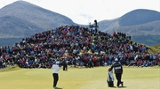 The crowds were out in force to support the world number one in his quest to make the cut