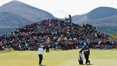 Padraig Harrington began the day with a share of the lead
