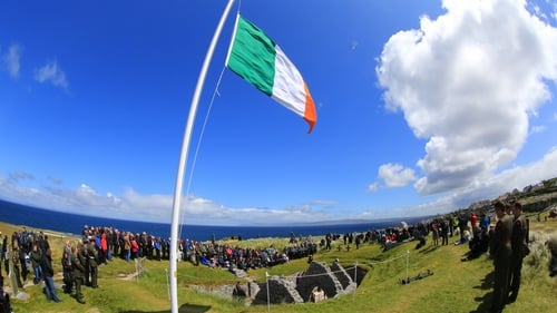 Attendees to the service on Inis Oírr (Pic: Defence Forces)
