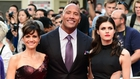 The three amigos - Carla Gugino. Dwayne Johnson and Alexandra Daddario