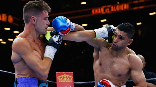 Khan dominated the early stages against Algieri