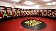 The Munster dressing room ahead of the game