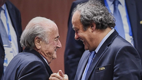 Sepp Blatter (L) and Michel Platini