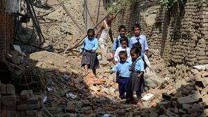 More than 32,000 classrooms were destroyed across Nepal when a 7.8 magnitude earthquake struck last month