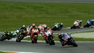 Jorge Lorenzo took the lead on the opening lap
