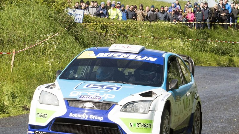 Donagh Kelly in his Ford Focus