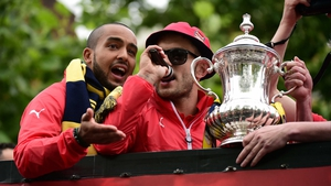Jack Wilshere in trouble for antics during bus top victory parade