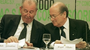 Former FIFA executive Julio Grondona (L) with Sepp Blatter