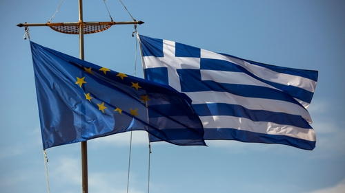 Greece's two-year bond yield fell almost 50 basis points to 9.55% today after hitting the 10% level yesterday