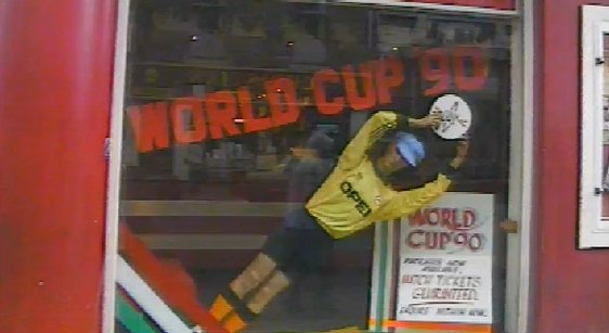 Getting World Cup tickets at Abbey Travel 1990