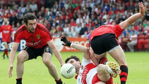 Derry and Down meet for the right to face Armagh or Donegal in the Ulster semi-final