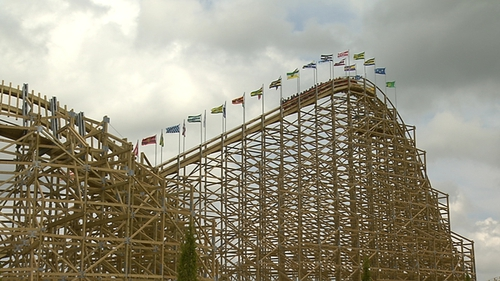 Europes Largest Wooden Rollercoaster With Inversion Opens