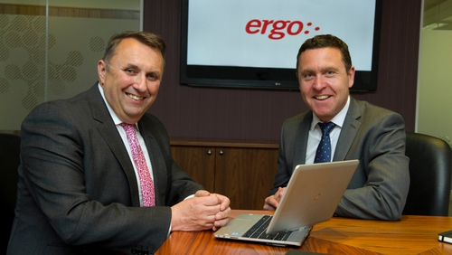 Ergo CEO John Purdy with former iSite CEO Dave Muldoon