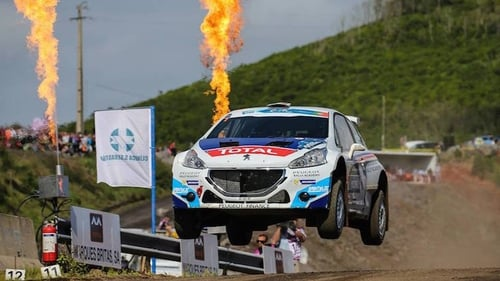 Waterford's Craig Breen in action in his Peugeot