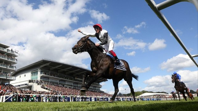 Golden Horn lost his unbeaten record when beaten in the Juddmonte International at York