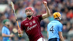 Galway's Cathal Mannion celebrates scoring his side's second goal
