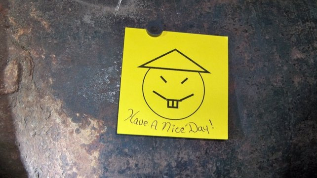 'Have a nice day!' - escaped convicts leave note for jailers