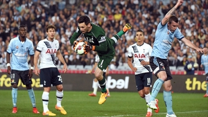 Hugo Lloris in action during Spurs' recent 1-0 friendly win over Sydney FC