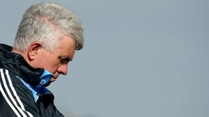 Dublin boss Ger Cunningham looks on during the defeat to Galway