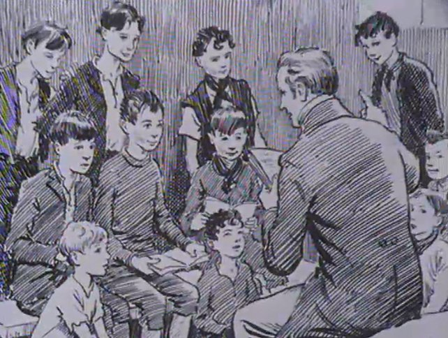 Edmund Rice teaching a class of young boys