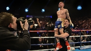 Carl Frampton has won the belt that manager Barry McGuigan won back in 1985