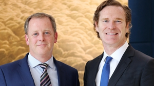 Cairn Homes' co-founders Michael Stanley (L) and Alan McIntosh (R)