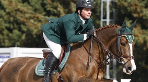 Cian O'Connor was impeded by a steward whenapproaching the 11th fence of his round in Aachen, Germany