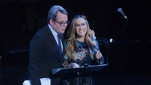 Matthew Broderick and Sarah Jessica Parker at New York's Town Hall Theatre Photos: James Higgins