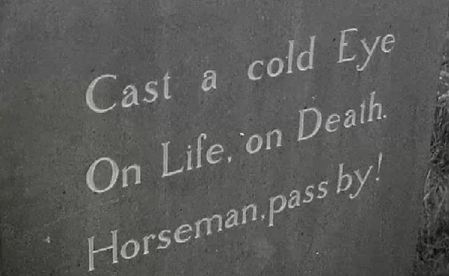 Yeats' Epitaph