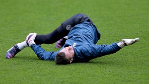 Shay Given in training earlier this week