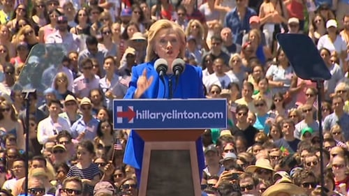 Today was billed as Ms Clinton's 'official launch' of her bid for presidency