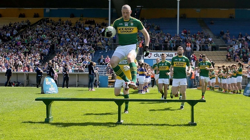 The Kerry captain will start Sunday's All-Ireland final on the bench