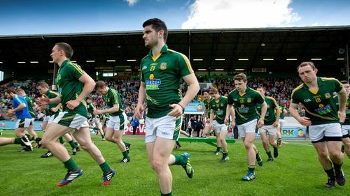 The Meath team take to the field ahead of their game against Wicklow