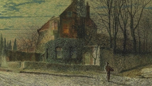 John Atkinson Grimshaw's 'Yew Court, Scalby, On a November Night' is up for auction tomorrow (Pic: Christie's)