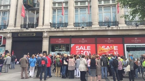 Clerys department store on O'Connell St in Dublin closed suddenly on 12 June