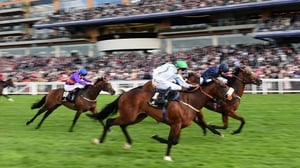 Ryan Moore on Washington DC (R) wins the Windsor Castle Stakes