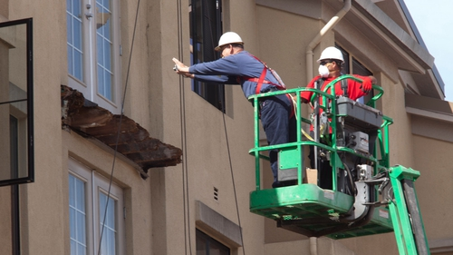 Testing of the building will involve erecting scaffolding and is likely to last several days