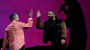Drake and Apple senior vice-president of Internet Software Eddy Cue at the launch of Apple Music in June