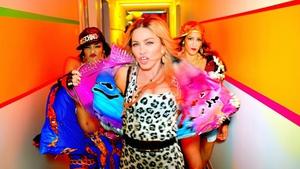 Madonna struts her stuff