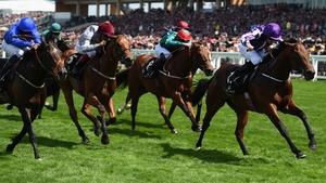 Ryan Moore riding Waterloo Bridge wins The Norfolk Stakes