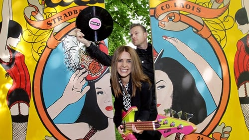 2fm's Nicky Byrne and Jenny Greene at the launch of Play the Picnic