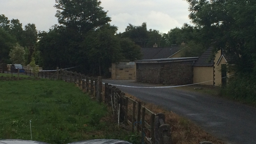 The scene has been sealed off and gardaí have launched a murder investigation