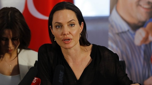 Angelina Jolie visited a refugee camp in southeastern Turkey